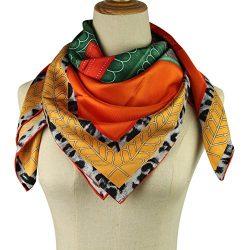 Silk Scarf for Women- 100% Natural Twill Silk 14MM Hand Rolling Edge Hair Wrap 35.4″35.4&# ...