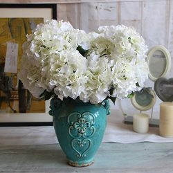Duosuny Artificial Silk Fake 5 Heads Flower Bunch Bouquet Home Hotel Wedding Party Garden Floral ...