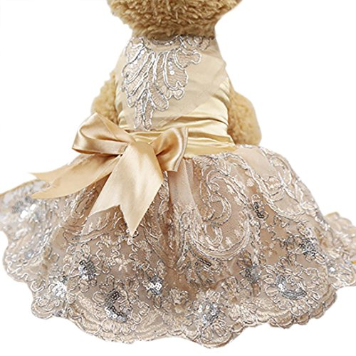 Howstar Pet Dress Lace Princess Wedding Dresses For Dog Puppy Elegant Cute Clothes Soft Silk App ...