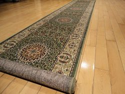 Stunning Silk Persian Style Area Rug Green 2×8 Hallway Runners 2×7 Runner For Hallway  ...