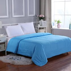 All Season Super Soft Microfiber Comforter Full/Queen Blue by MELODY HOUSE