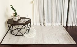 Homemusthaves Solid Silk Contemporary Modern Hand-Tufted 100% Wool Area Rug Carpet For Living Ro ...