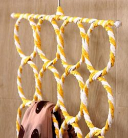 28 Circles Scarf hanger – best scarf holder – Easy Access Swivel Hook – Space  ...