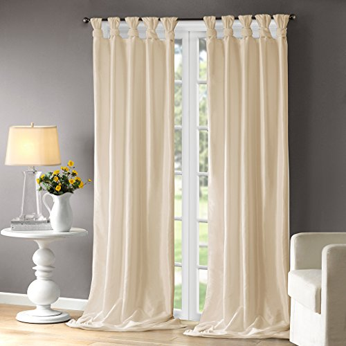 Champagne Curtains For Living Room, Traditional Fabric Curtains For Bedroom, Emilia Solid Window ...