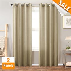 Faux Silk Satin Curtains 84 inch Length for Bedroom Window Curtain Panels Dupioni Light Reducing ...