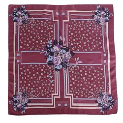 Silk Scarf For Women, 100% Silk Mulberry Hair Wrapping Square Geometrical Twill Neckerchief Best ...