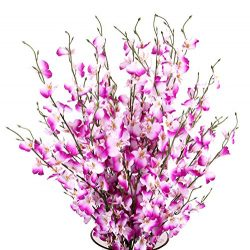 TYEERDEC Artificial Orchids Flowers, 12 Pcs Silk Fake Orchids Flowers in Bulk Orquideas Flowers  ...