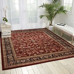Nourison Nourison 2000 (2002) Burgundy Rectangle Area Rug, 2-Feet by 3-Feet  (2′ x 3′)