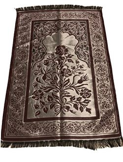 Luxury Quality Silk Rose Pattern Islamic Prayer Rug Janamaz Sajjadah Muslim Namaz Seccade Turkis ...