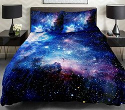Anlye Galaxy Quilt Cover Galaxy Duvet Cover Galaxy Sheet Space Sheet Outer Space Bedding Set Bed ...