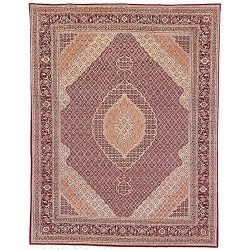 Safavieh Tabriz Herati Collection TH27 Hand-Knotted Traditional Red Silk & Wool Area Rug (6& ...