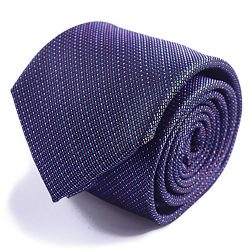 Qobod Silk Necktie Handmade Tie Mens Gift Box long purple red pink dots