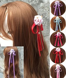 China Wind ribbon tassels hairpin hairpin Chinese clothing accessories silk flower headdress hai ...