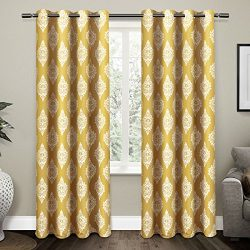 Exclusive Home Curtains Medallion Thermal Blackout Grommet Top Window Curtain Panel Pair, Sundre ...