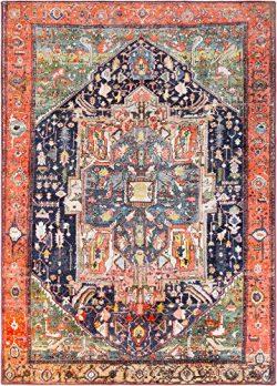 Surya Silk Road Area Rug, 2′ x 3′ , Pink, Blue
