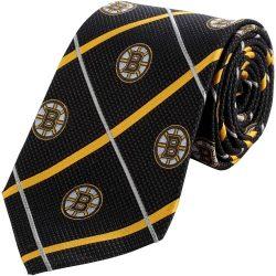 Boston Bruins NHL Silver Line Woven Silk Neck Tie Eagles Wings