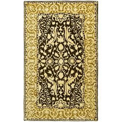 Safavieh Silk Road Collection SKR213F Handmade Brown and Ivory New Zealand Wool Area Rug (3&#824 ...