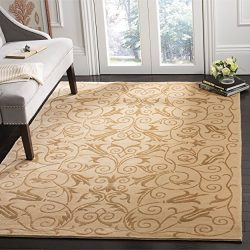 Safavieh Tibetan Collection TB317H Hand-Knotted Ivory Silk & Wool Area Rug (5′ x 7&#82 ...