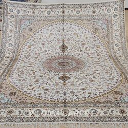 Yilong 8'x10′ Hand Knotted Oriental Silk Rug Vintage Classic Nain Persian Traditiona ...