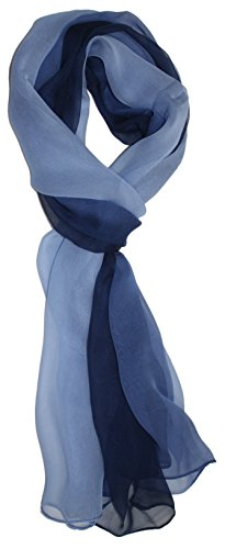 Ted and Jack – Silk Ombre Lightweight Accent Scarf (Blue Hues)