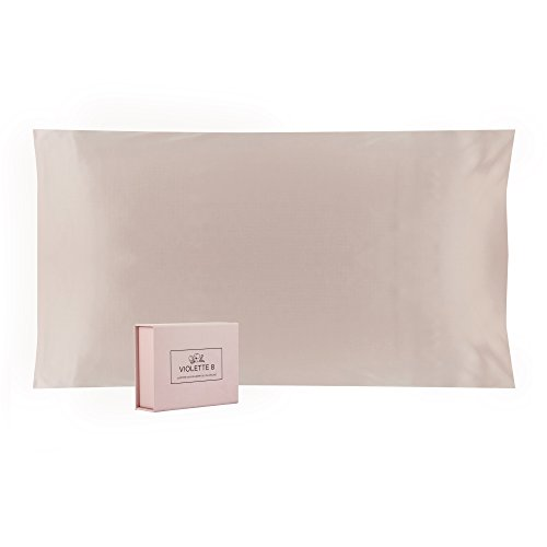 Violette8 100% Pure, 25 Momme Mulberry Silk Pillowcase, King Size, Pink::Luxurious Double Sided, ...