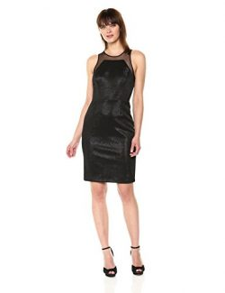 Vera Wang Women's Sleeveless Cocktail Dress, Black, 10
