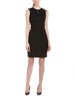Elie Tahari Womens Silk-Trim Wool-Blend Sheath Dress, 4
