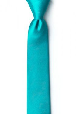 Turquoise Turquoise Silk Tie For Boys
