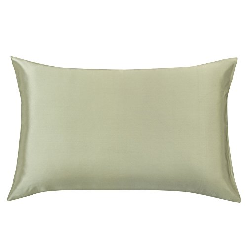 YUNS Luxury 100% Pure Mulberry Silk Pillowcase for Hair and Skin Beauty, 25 Momme Silk Both Side ...