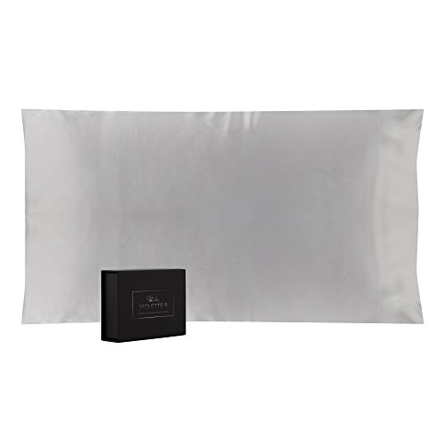 Violette8 100% Pure, 25 Momme Mulberry Silk Pillowcase, King Size, Grey:: Luxurious Double Sided ...