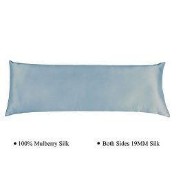 Cozysilk Silk Body Pillowcase with Zipper, 100% Silk on Both Sides, 19mm Zippered Silk Body Pill ...