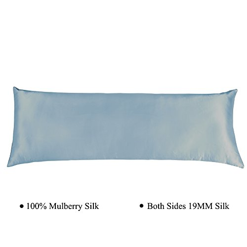 Cozysilk Silk Body Pillowcase with Zipper, 100% Silk on Both Sides, 19mm Zippered Silk Body Pill ...