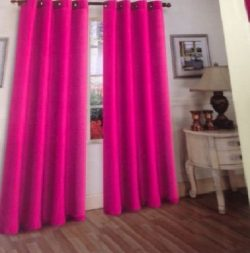 Fusia Hot Pinksolid 1Pc Grommet Panel Solid Silk Window Curtain Drapes Many Colors 55″ X 8 ...