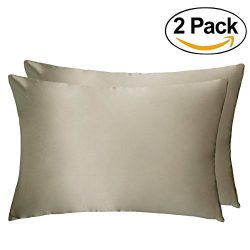 LULUSILK Natural Silk Pillowcase 100 Pure Mulberry Silk Pillow Cover for Hair and Skin Anti Wrin ...