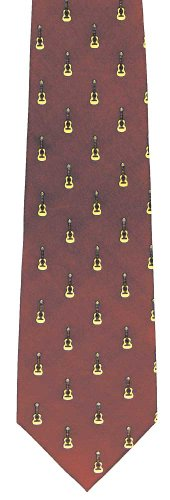 Music Silk Tie – Acoustic Guitar Design