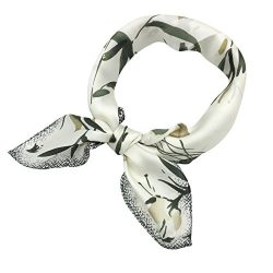 YOUR SMILE Silk like Scarf Women's Fashion Pattern Large Square Satin Bandanas Headscarf Headdre ...