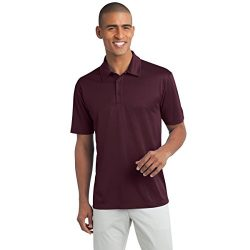 Mens Short Sleeve Moisture Wicking Silk Touch Polo Shirt, XL, Maroon