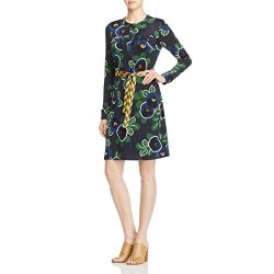Tory Burch Womens Portia Silk A-Line Shirtdress