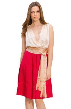 Tory Burch Darya Colorblock Silk Dress