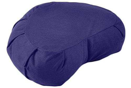 YogaAccessories Crescent Cotton Zafu Meditation Cushion – Blue
