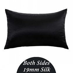 ZIMASILK 100% Mulberry Silk Pillowcase for Hair and Skin,Both Side 19 Momme Silk, 1pc (King 20&# ...