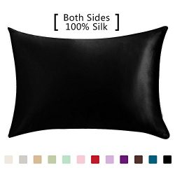 YANIBEST 19 Momme 100% Pure Natural Mulberry Silk Pillowcase for Hair & Facial Beauty Queen  ...