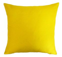 Silk Throw Pillow Cover Canary Yellow 15×15 inch 1 Piece 100% Pure Silk Dupioni Cushion Cover
