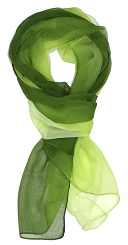 Ted and Jack – Silk Ombre Lightweight Accent Scarf in Greens