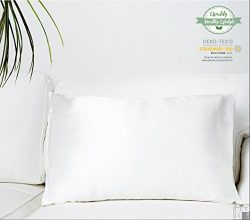 MYK 100% Pure Natural Mulberry Silk Pillowcase, 19 Momme Both Sides Silk for Hair & Facial B ...