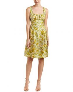Nanette Lepore Womens Silk A-Line Dress, 0, Green