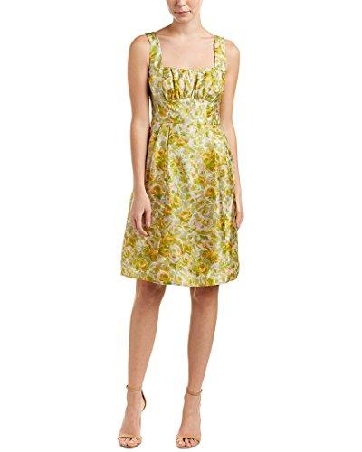Nanette Lepore Womens Silk A-Line Dress, 0, Green