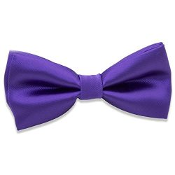 Kids Boys Silk Bow Ties – Adjustable Bowtie for Baby Toddler Gifts (Purple)