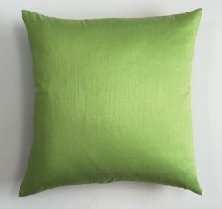 DreamHome – Solid Faux Silk Decorative Pillow Cover/sham (26×26, Lime)