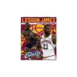 The Northwest Company NBA Cleveland Cavaliers LeBron James Player Silk Touch Throw, 50-inches by ...